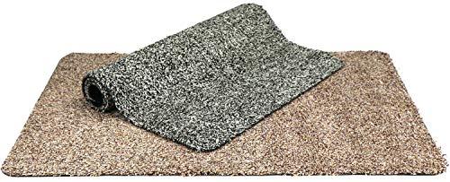com-four® 2X Fußabtreter Innenbereich - Schmutzfangmatte mit Rutschfester Unterseite für Eingangsbereich - Fußmatte - Fußabtreter (Auswahl variiert) (02 Stück - Schmutzfangmatte 75 x 45 cm)