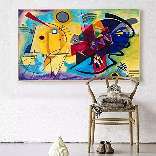 mgdznb Wassily Kandinsky Composición sin Pintura de la Pared Cuadro de la Hoja Inicio Arte Decorativo Cuadro de la Pintura sobre Lienzo 50x75cm