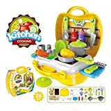 Ethnic Forest Luxury Kitchen Set Cooking Toy with Briefcase and Accessories Ultimate Kid Chef Bring Along Kitchen Cooking Suitcase Set   Latest Pretend Play Carry Along Kitchen