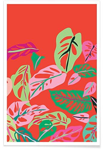 "JUNIQE® Blätter & Pflanzen Poster 20x30cm - Design ""Monstera Obliqua"" entworfen von Mariery Young"