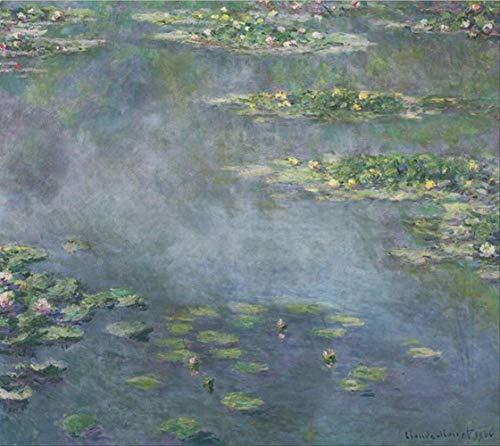 Prentkunst Wall Art Canvas Waterlelie Vijver Olieverf Lotus Olieverfschilderij Impressionisme Poster Foto Woonkamer 40X50Cm Ingelijst
