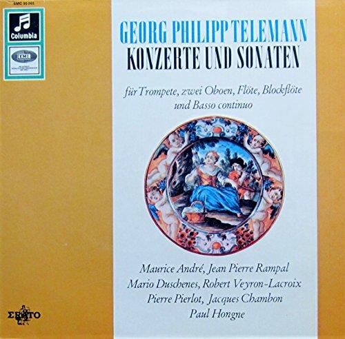 Telemann: Konzerte und Sonaten (für Trompete, zwei Oboen, Flöte, Blockflöte und Basso continuo) [Vinyl LP] [Schallplatte]