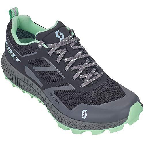 Scott W Supertrac 2.0 GTX Shoe Schwarz, Damen Gore-Tex Laufschuh, Größe EU 40 - Farbe Black - Light Green