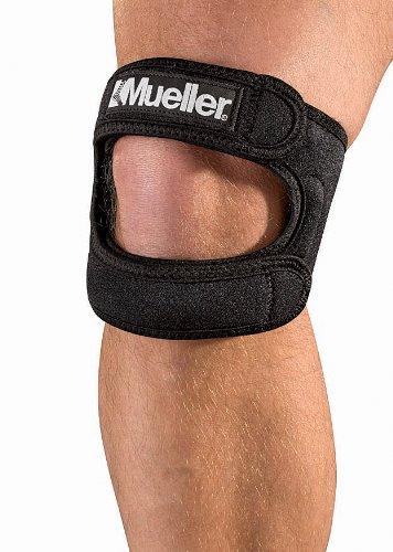Mueller 59857 Max Bande de soutien pour le genou Noire Taille unique