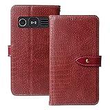 QHTTN Muster Premium Rot Leder Tasche Hülle Für Doro
