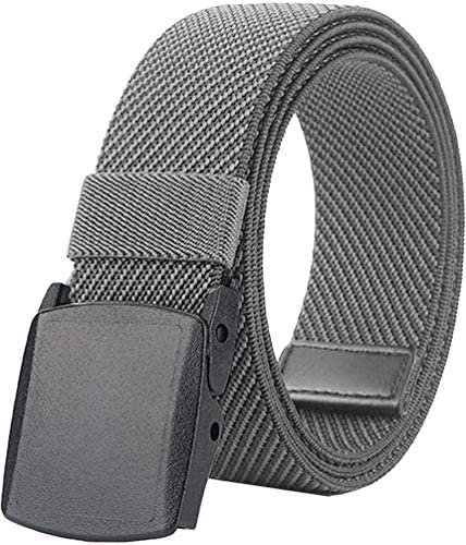 Belts Elastic Stretch Mens Breathable Web Belt for Men Women with No Metal Plastic Buckle for product image
