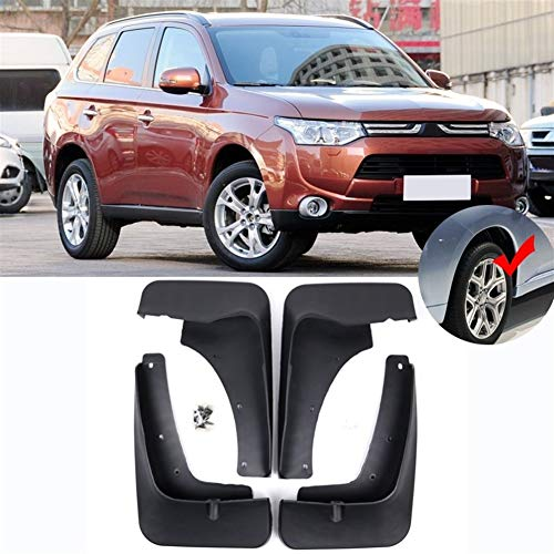 MMI-LX Mud Flaps 4pcs Coches Auto Set Guardabarros Guardabarros Guardabarros Delantero y Trasero Mudflaps for Mitsubishi Outlander 2013 2014 2015 Fácil instalación