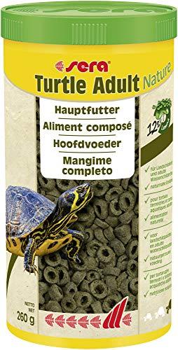 Sera Turtle Adult Nature 1000ml - Futter für Landschildkröten und Adulte Wasserschildkröten - aus nachhaltig produzierten Wasserlinsen ohne Farb- und Konservierungsstoffe