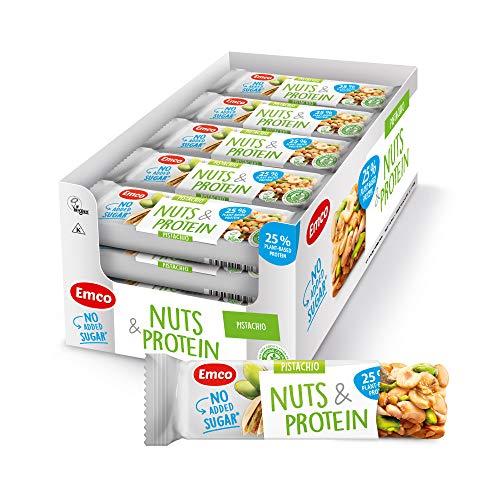 EMCO Nüsse und Proteinriegel ohne Zuckerzusatz Pistazie 20x35g
