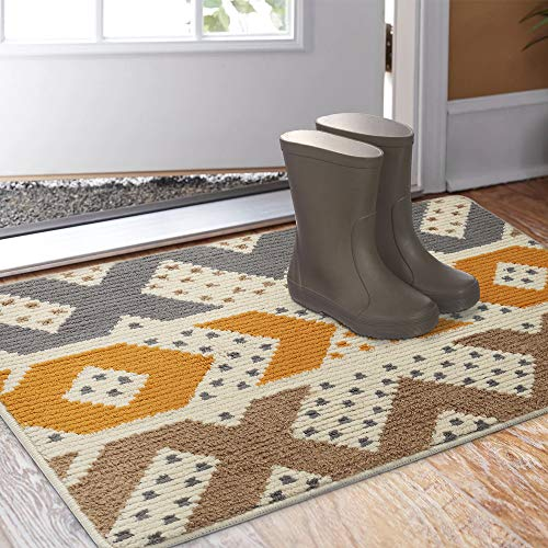 "Color&Geometry Indoor Doormat, Indoor Outdoor 32""x20"" Mat Waterproof, Non Slip Washable Quickly Absorb Moisture and Resist Dirt Rugs for Entrance…"