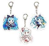 EBTY-Dreams Inc. - Set of 3 Hatsune Miku Vocaloid Anime Acrylic Keychain