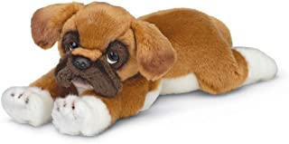 Bearington Roscoe Boxer Plush Stuffed Animal Puppy Dog, 15 inches