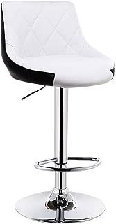 NMDB Chaise Bar Peut etre tourne Tabouret Haut Tabouret Haut  Couleur White Black  Taille 38 5cm