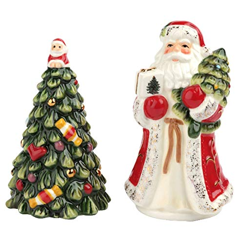 Spode Christmas Tree Salt & Pepper Red Santa/Tree