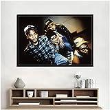 Tribu llamada Quest grupo de música de Hip Hop Rap Star arte pintura lienzo póster pared decoración del hogar obra de arte -24x36 pulgadas sin marco