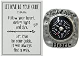 Luck Tokens Let Love Be Your Guide Compass Pocket Charm with Story Card (Follow Your Heart)
