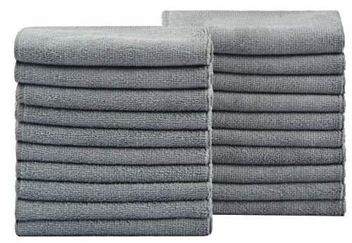 KinHwa Mikrofasertücher Haushalts handtücher Super saugfähig Geschirrtücher Mehrzweck 30cm x 30cm 20 Stück Grau