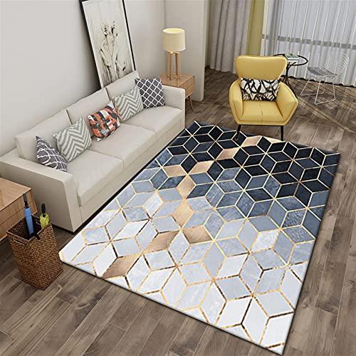 BESTORI Alfombras Moderna para salón,Salon Pelo Corto Alfombra Alfombras Dormitorio Grandes Estilo 2 120×160cm