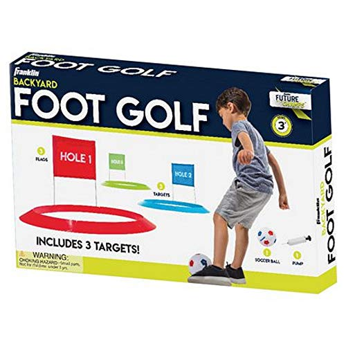 """Franklin Sports Kids Soccer Golf Set with 1 Soccer Ball & 3 Targets with Flags - 20"""" Targets"""