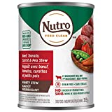 NUTRO Hearty Stew Adult Wet Dog Food Chunky Beef, Tomato, Carrot & Pea Stew 12x12.5oz