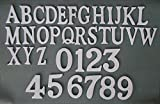 Black Country Metal Works White Coated Brass Self-Adhesive Letter V - 1.5' Height