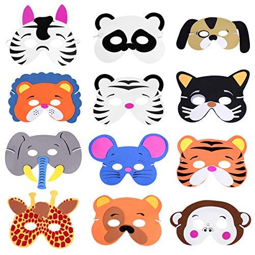 YeahiBaby Máscara de Espuma de Animales Surtidos para los