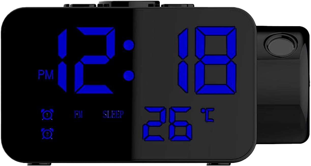GEZICHTA Sale special price Max 56% OFF Projection Alarm Clock 180 ° Cl Rotatable