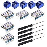 5 Set TMC2208 módulo de controlador de motor paso a paso Destornillador de Disipador de Calor 2.0A Peak 256 Microsteps para Controlador de impresora 3D