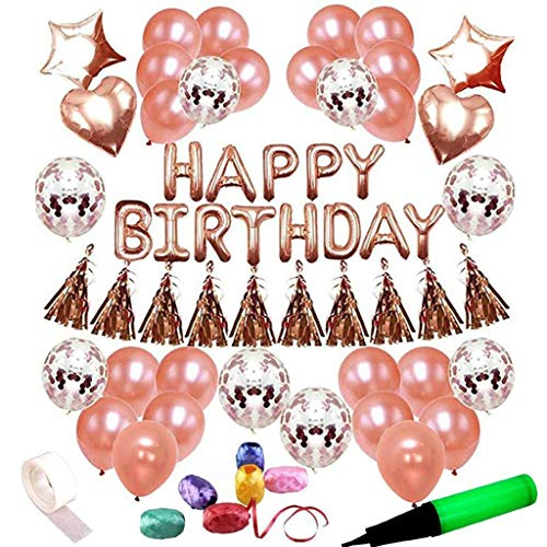 Lowest Prices! LAOHAO Birthday Party Decoration Supplies Stars Love Balloon Set Latex Balloon Birthd...