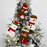 Decoración para árbol de Navidad, 4 unidades, mini calcetines de caramelo, decoración de fieltro, decoración de Navidad, fiesta, puerta, ventana, hogar, cocina, invierno, chimenea, decoración