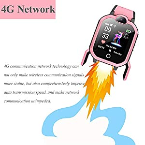 TBidder Kids Smart Watches for Girls Boys Support 4G with GPS Tracker Video Call HD Touch Screen Waterproof Fit Android iOS