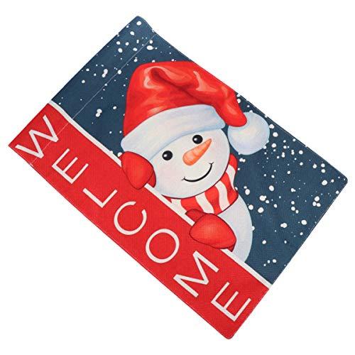 Angoily Weihnachtsgarten Flagge Schneemann Santa Weihnachtsferien Vertikale Doppelseitige Flagge Banner Weihnachtsfeier Liefert für Bauernhof Hof im Freien Dekoration