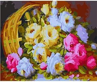 KYKDY dekoratives leinwand-ölgemälde durch zahlen, malen nach zahlen für erwachsene Vasenfrau, R0429,40x50cm kein Rahmen B07PP97WM1  Vollständige Spezifikation
