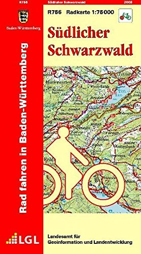 Südlicher Schwarzwald: R756 Radkarte 1:75 000