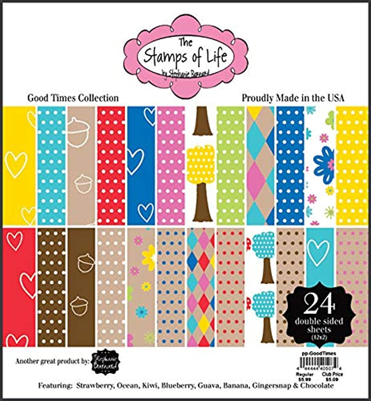 Good Times Patterned Paper Pad for Card-Making and Scrapbooking by The Stamps of Life - 24 Sheets 6