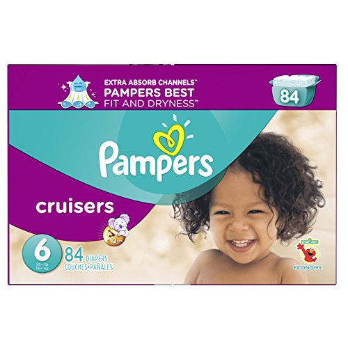 Pampers Cruisers Disposable Diapers Size 6, 84 Count, ECONOMY