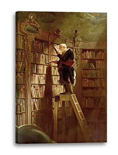 Leinwand (40x60cm): Carl Spitzweg - Der Bücherwurm