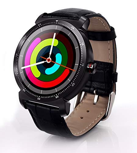"""XZYP K88H Reloj Inteligente, Material De Metal 1.3""""Pantalla A Color Ip67 A Prueba De Agua PodóMetro Monitor De PresióN Arterial Monitor De Fitness Pulsera Inteligente (Correa De Cuero)"""