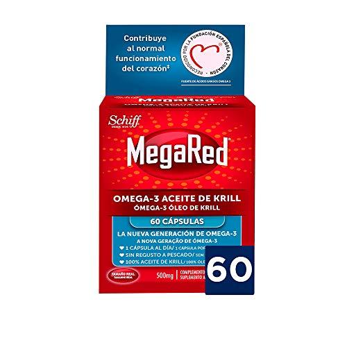 Megared Omega 3 - Aceite de Krill Complemento Alimenticio sin Regusto a Pescado 60 cápsulas