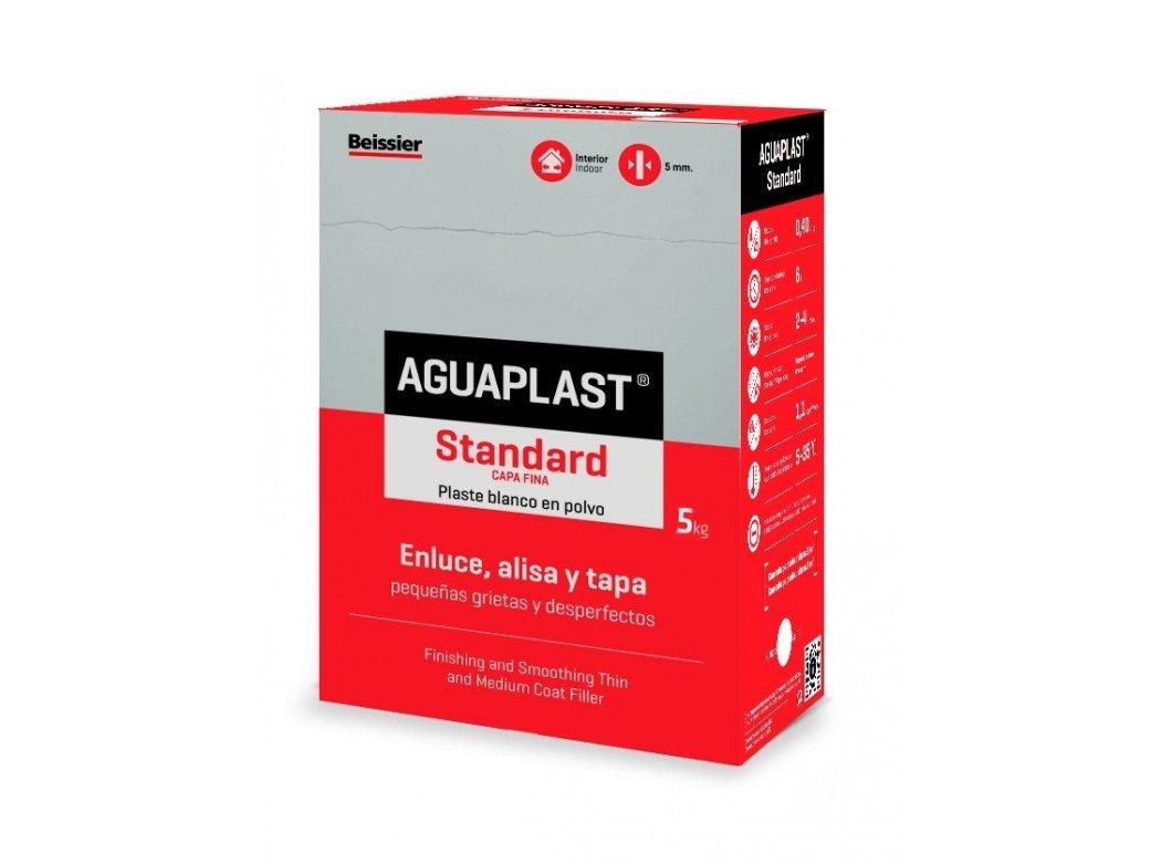 AGUAPLAST 5448B7 Standard Plaste blanco en polvo para grietas, 5 Kg: Amazon.es: Bricolaje y herramientas