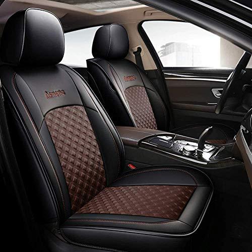 HJXX Bilsätesöverdrag set för 5-sits bilstolskydd bilinredning för Croma Dobl? Frihet Fullback Idea Marea Tempra, brun