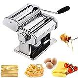 Hiki Ziki Pasta Maker Machine, Pasta Crank Stainless Steel Pasta Roller Machine,Manual Noodle