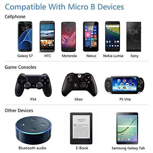 MATEIN Micro USB Kabel [2 Pack 3m], 10 FT Android Ladekabel Extra langes Schnellladegerät USB kompatibel für S7 Edge/ S7/ S6/ J3/ J7/ Note 5, Huawei, Nokia, Wiko, Xiaomi, Xbox, PS4, Sony - Schwarz