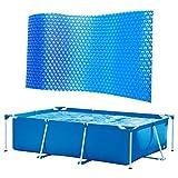 ARONTIME Piscina de polvo a prueba de lluvia, cubierta de piscina de protección azul, accesorios de piscina casera