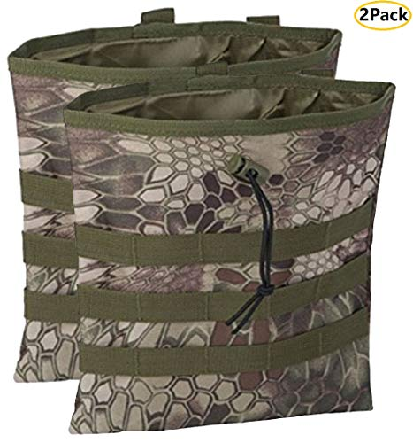 Tactical Molle Tool Pouch Large, Drawstring Pouch Bag, Mag Pouch Molle Dump Pouch For Travelers,Hikers,Climbers,Workers,Police,Soldiers,Armourers (Mandrake-P(2 Pack))