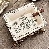 aschenbecher CDFSG Blumenmuster Keramik Aschenbecher Platz Große Asche Tablett 195X140X80 mm 2