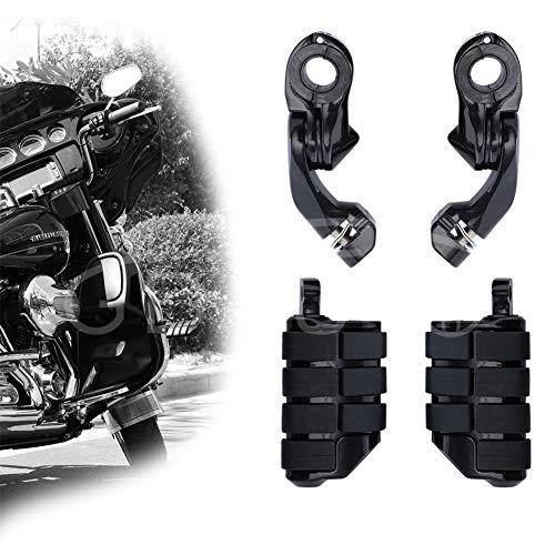 Highway Pegs Motorcycle Footpegs Foot Rest(Black) for Harley Road King Street Glide Honda Yamaha Suzuki Kawasaki Engine Guard