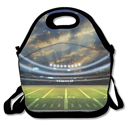 American Football Stadium 3D Lunch Tote Bag Bags Awesome Lunch Handbag Lunchbox Box For School Work Outdoor