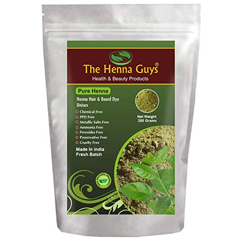 100% Pure & Natural Henna Powder for Hair Dye/Color 200 Grams - The Henna Guys
