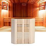 Mumusuki Sauna Poggiatesta Coperchio della Luce Coperchio di Protezione della Lampada Antideflagrante Quadrato Angolo in Legno Paralume Copertura della Luce Accessori per Sauna Vapore Domestico
